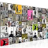 Quadro Banksy Collage 200 x 80 cm - XXL Immagini Murale Stampa su Tela Decorazione da Parete Pronte per l'applicazione 5 pezzi - 302755a