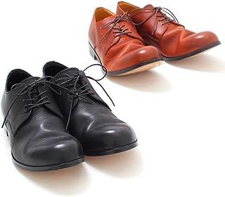 [パドローネ] 短靴 ダービー プレーントゥシューズ ブラック キャメル 40 41 42 (40(25.0cm-25.5cm), キャメル)
