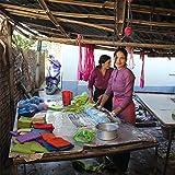 Maharanis Fairtrade Filz Untersetzer Topf Untersetzer kiesel natur hell 22 cm handgefertigt aus reiner Wolle, hitzebeständig - 3