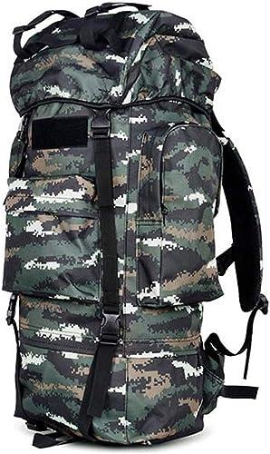Lslmcs Sac à Dos, Sac à Dos De Camouflage Extérieur Sac à Dos en Toile Imperméable, Sac à Dos De Randonnée 115L