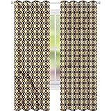 Cortinas opacas para dormitorio, líneas verticales onduladas, 42...