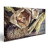 islandburner Quadro Moderno Ingredienti sani per panini e Pane con Cereali integrali Stampa su Tela - Quadri Moderni x poltrone Salotto Cucina mobili Ufficio casa - Fotografica Formato XXL HBZ