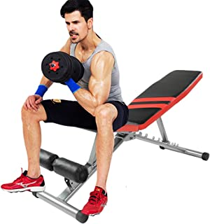 GiODLCE Adjustable Weight Bench Workout Foldable Utility Bench Compact Exercise Bench for Home Incline/Decline Bench Multi-Purpose Sit Up Bench