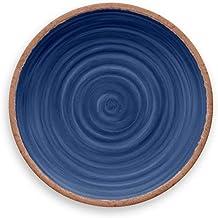 Tarhong Melamine Dinnerware Dinner Plates Set of 4 - Choose from Colorful Moroccan/South American/Atlantic/Lemon Patterns ...