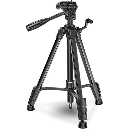 三脚 カメラ ビデオカメラサポート プロ 5段 エレベーター 3Way雲台 水準器付き 1/4ネジ 開脚角度調整可 アルミ合金 一眼レフ ビデオカメラ クイックシュー式 収納バッグ付き 軽量 さんきゃく