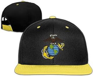 Oopp Jfhg Hip Hop Baseball Cap USMC-Eagle Globe and Anchor Flat Hats For Boy Girl