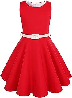 Surprise S Black,Red Summer Girls Dress Sleeveless Cotton Princess Dress Kids Clothes Elegant Wedding Party Dress