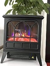 WYZXR Chimenea eléctrica Chimenea eléctrica con Efecto Llama 3D y Chimenea de leña 1800 W Dormitorio Salón Comedor Chimenea eléctrica portátil Negra
