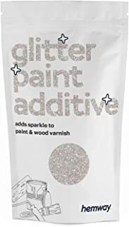 Hemway | Glitter Paint Additive 100g / 3.5oz Acrylic Latex Emulsion Water Based Paints..