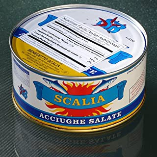 Italian Anchovies in Sea Salt by Scalia (29.9 ounce)