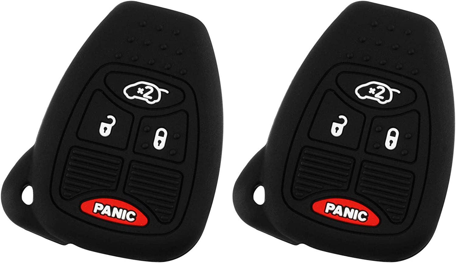 Key Fob Keyless Entry Remote Cover Protector for Jeep Dodge Chrysler 4 Button OHT692427AA, M3N5WY72XX