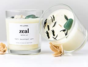 My Lumina Zeal Road Opener Candle - Smudging Chakra Balancing Healing Candle Natural Soy Wax - Water Lily Natural Scented Purifying Candle for Aromatherapy