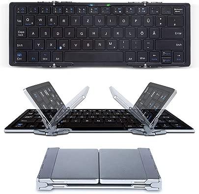 CNMF Faltbare Bluetooth Tastatur mit QWERTZ Tastaturlayout Wireless Tastatur f r Windows PC Tablet Smartphone