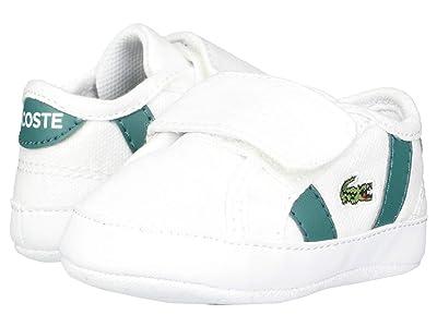 Lacoste Kids Sideline Crib 120 2 CUB (Infant/Toddler) (White/Green) Kid