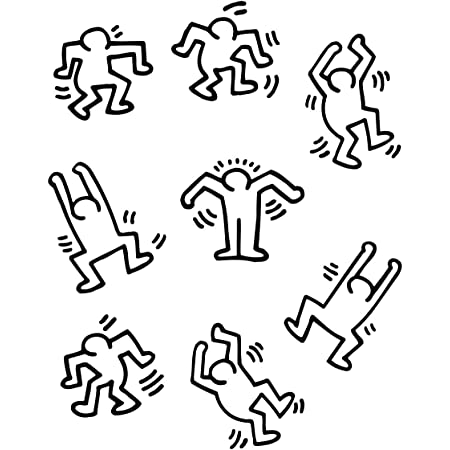 Keith Haring Vinyl Sticker Custom 2pc Set