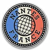 2x 10cm Nantes France Sticker en vinyle pour ordinateur portable de Voyage bagages étiquette Français # 9849 - 10cm Wide x 10cm High