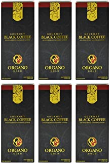 6 Boxes Organo Gold Gourmet Black Coffee - 180 Sachets