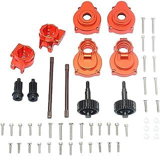 Aluminum Rear Gear Box Mounts+Rear Knuckle Cups With Shaft& Gear For Trx4 Rc Car Traxxas Aluminum Alloy Porous Seat Rear C Seat + Rear Cup (With Rear Drive Shaft And Internal Gear)-Suit Orange