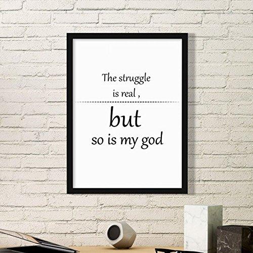 DIYthinker Iman'S Trouwe Aanmoediging Bijbel Quote Eenvoudige Fotolijst Kunst Prints Schilderijen Thuis Muursticker Gift