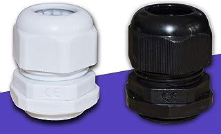CROSYO 10pcs Couleur Noir étanche à l'eau en Nylon en Plastique Presse-étoupe Connecteur for câble 3-21mm Fil M12x1,5 M16...