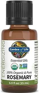 Garden of Life Essential Oil, Rosemary 0.5 fl oz (15 mL), 100% USDA Organic & Pure, Undiluted & Non-GMO - for Diffuser, Aromatherapy, Meditation - Energizing, Stimulating, Refreshing, Clarifying