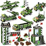 1162 Pieces City Police Station Building Kit, Army...