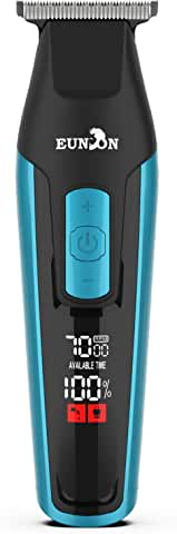 Eunon Electric Rechargeable Hair Trimmer Haircut Kit with LCD Screen