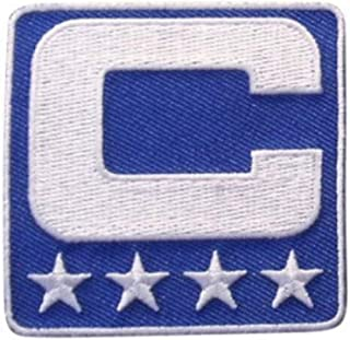 Royal Blue Captain C Patch Iron On for Football Jersey (Buffalo)