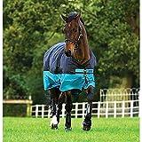 Horseware Amigo Mio Turnout Medium 200g Füllung Black & Turquoise Weidedecke Winterdecke 115-160 (155)