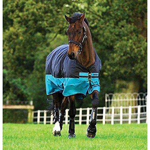 Horseware Amigo Mio Turnout Medium 200g Füllung Black & Turquoise Weidedecke Winterdecke 115-160 (125)