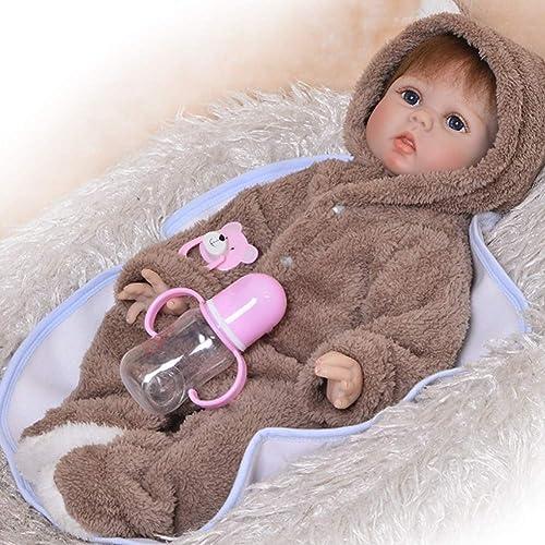 Candyana Reborn Dolls Simulation Baby 5cm Big Eyes Cute Full Silikon Body Birthday Weißachtsgeb  Geschenk