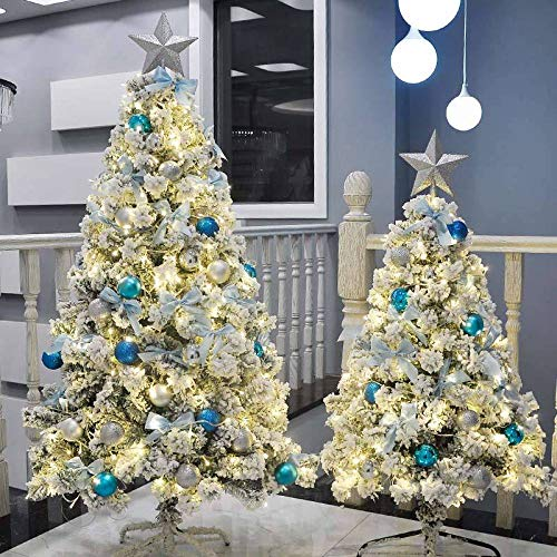 Topashe Decoration Artificial Christmas Tree,Flocked Cedar Christmas Tree, Christmas Decoration-Flocking Package A_2.7 meters,Artificial Christmas Tree Traditional Green Pine With Stand