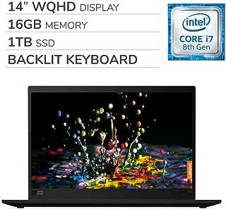"Lenovo ThinkPad X1 Carbon Gen 7 2019 Premium 14"" WQHD Laptop Computer, Intel Core i7-8565U 1.80 GHz, 16GB RAM, 1TB SSD,Backlit Keyboard,Fingerprint Reader,Wi-Fi,Bluetooth,Webcam,HDMI, Win 10 Pro"