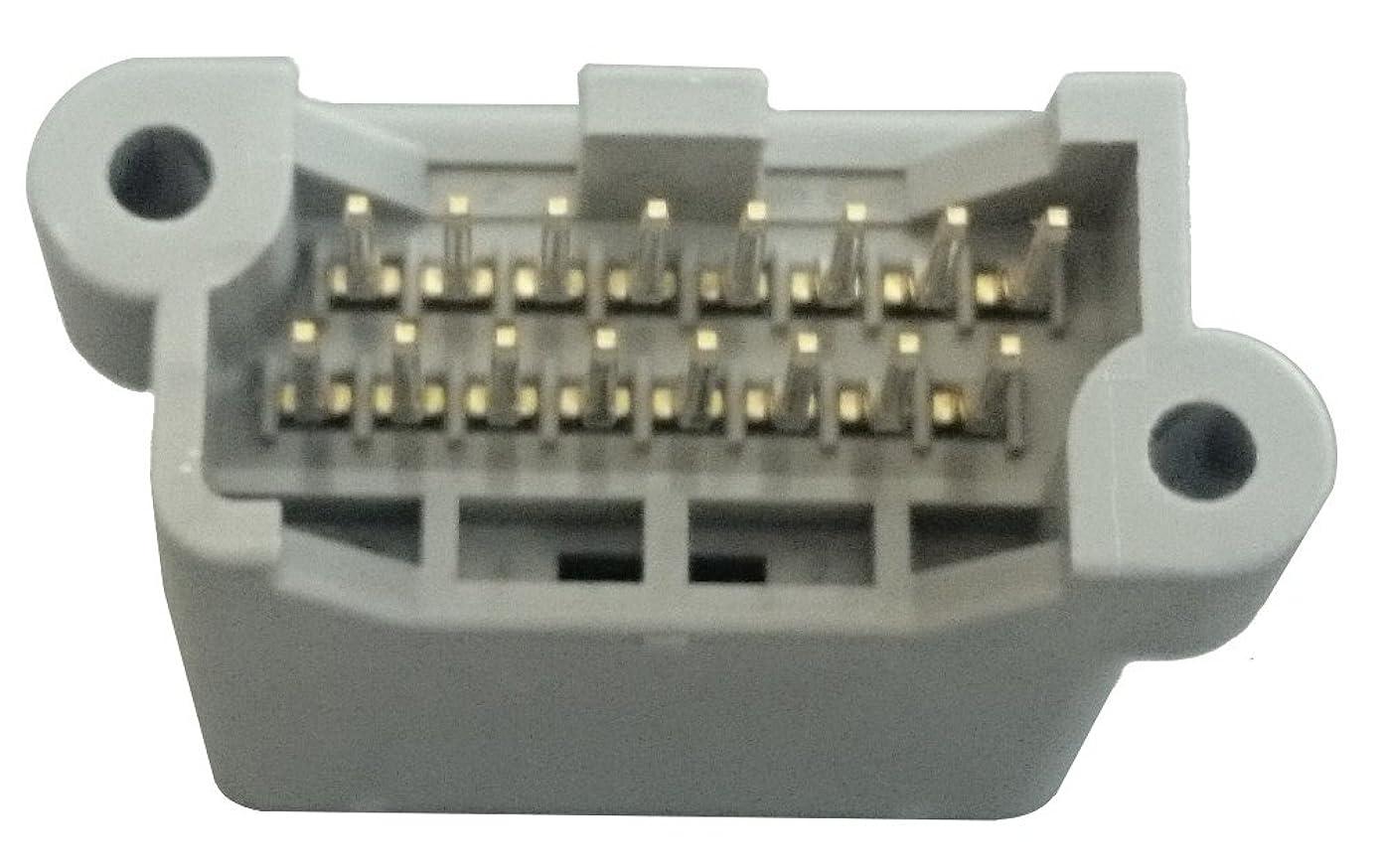 ガレージ転用ハイキング日本航空電子工業 基板対電線 16極 2列 ストレート シュラウドヘッダ MX34016UF1