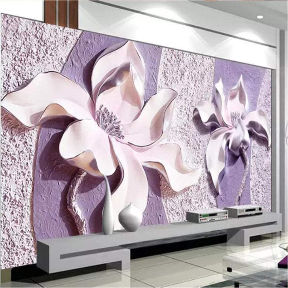 Clhhsy Custom Wallpaper Special price for a limited time 3D Stereo Murals Wooden Photo Orchid Albuquerque Mall Liv