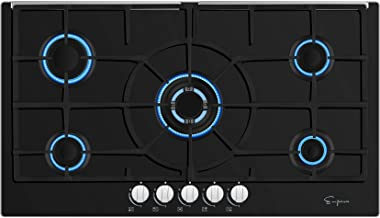 Empava EMPV-36GC5L90I 5 Italy Sabaf Burners Gas Stove Top Cooktop, 36 Inch