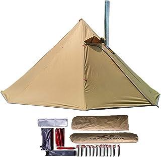 longeek 1-2 Persontält Teepee tält för utomhus backpacking camping vandring uppvärmt skydd rökig HUT skorsten het Tipi enk...