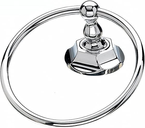 Top Knobs ED5PCB Edwardian Towel Ring In Polished Chrome