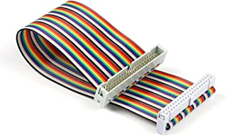 UCTRONICS Male to Female GPIO Ribbon Cable 40pin 8inch Breadboard Jumper Wires for Connection Raspberry Pi 3 2 Model B B+ w/ 3.5/5 inch TFT Touch Screen LCD Display