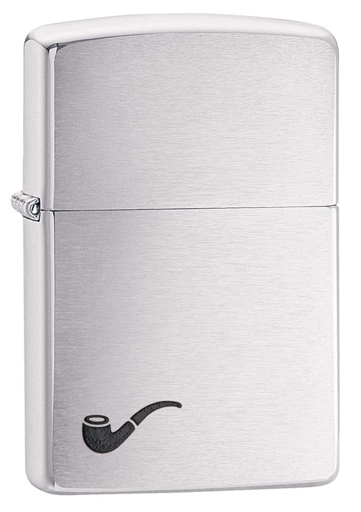 Zippo Lighter Brushed Chrome Design