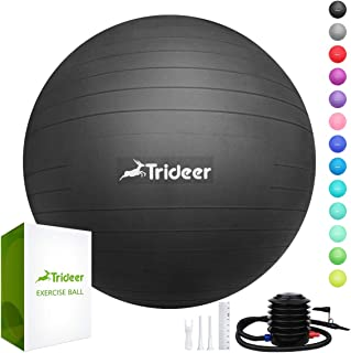 Trideer Exercise Ball (45-85cm) Extra Thick Yoga Ball Chair, Anti-Burst Heavy Duty..
