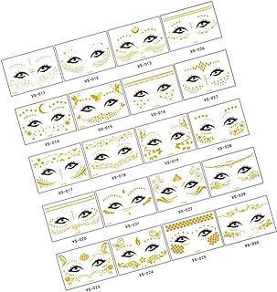 Beaupretty 20 stuks tattoo-stickers, waterdicht, voor gezicht en lichaam, tijdelijke tatoeages, bronzing tattoostickers, l...