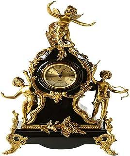 Bedside Clock النحاس الأمريكي مع الحلي الزخرفية الخزفية، ساعات الملاك، والساعات والساعات والأزياء الأوروبية الحرف الراقية ...