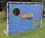 HUDORA Fußballtor Soccer Fun mit Torwand, 213 x 152 x 76 cm, 25,4 mm Rohrdurchmesser