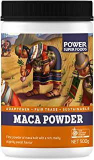 Power Super Foods Organic Maca Powder 500 g,, Maca Powder 500 Grams