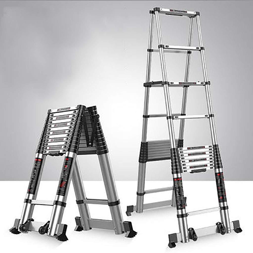 Aluminio Aleación Telescópico Escalera,extensión Escalera Multifunción Escalera Portátil Plegables Extensible Escaleras De Mano Multi Propósito Escalera-b4 3.9+3.9m: Amazon.es: Bricolaje y herramientas