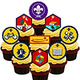 Made4You Beavers Paquete de Insignias para Fiestas, Decoraciones comestibles para Tartas, oblea para decoración de Cupcakes