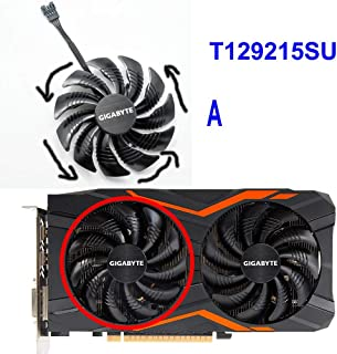 XJBHRB ギガバイトのGeForce GTX 1050 1050TI 1060 1070 1070TI G1のRadeon RX 570、580、470、480 G1ジョージアMIは私の新しい88MMファンT129215SU ngのための (Color de hoja : T129215SU A, Envío desde : Federación Rusa)