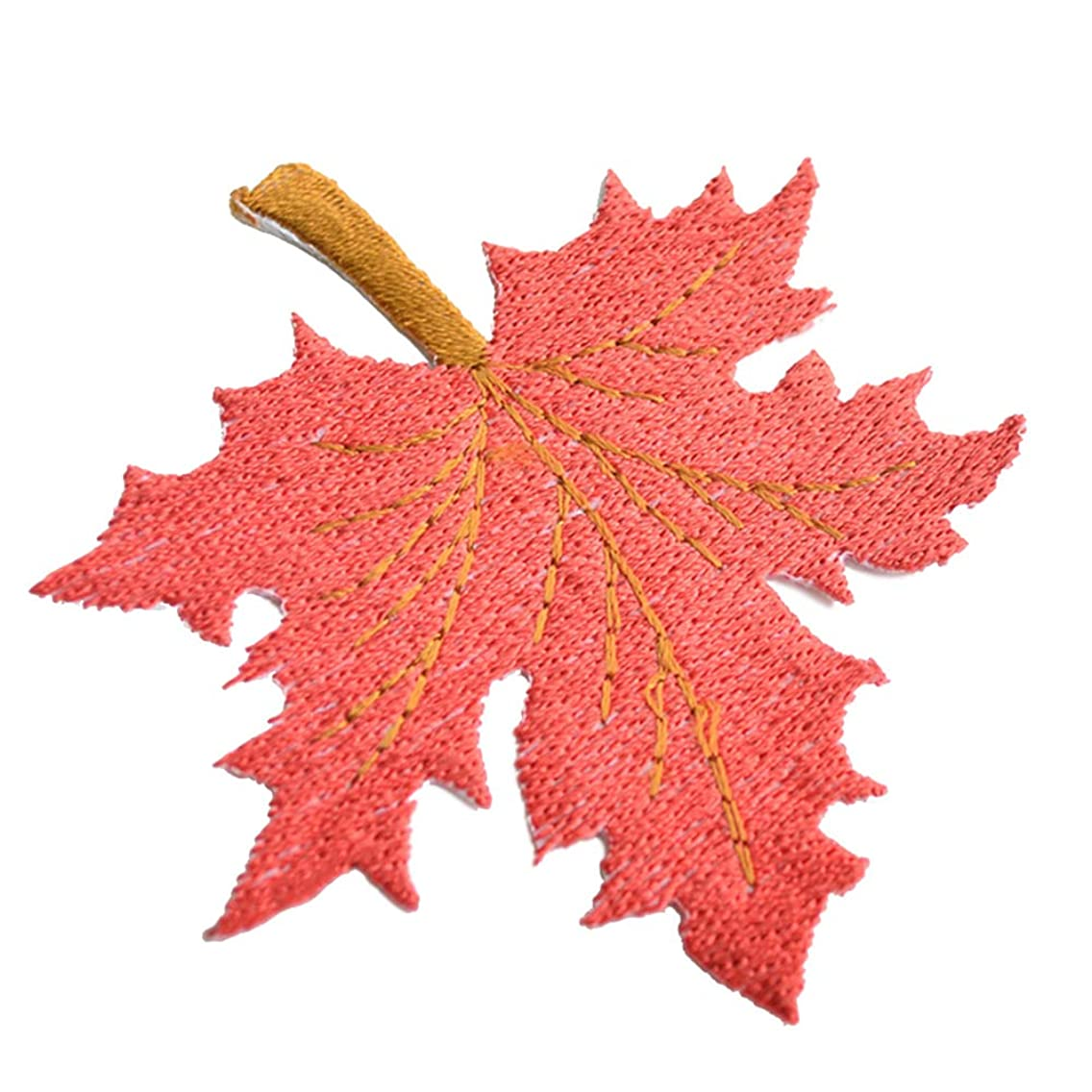 4 Pcs Delicate Embroidered Patches,Iron On Patches, Sew On Applique Patch,Maple Leaves Embroidery Patches, Cool Patches for Men, Women, Boys, Girls, Kids