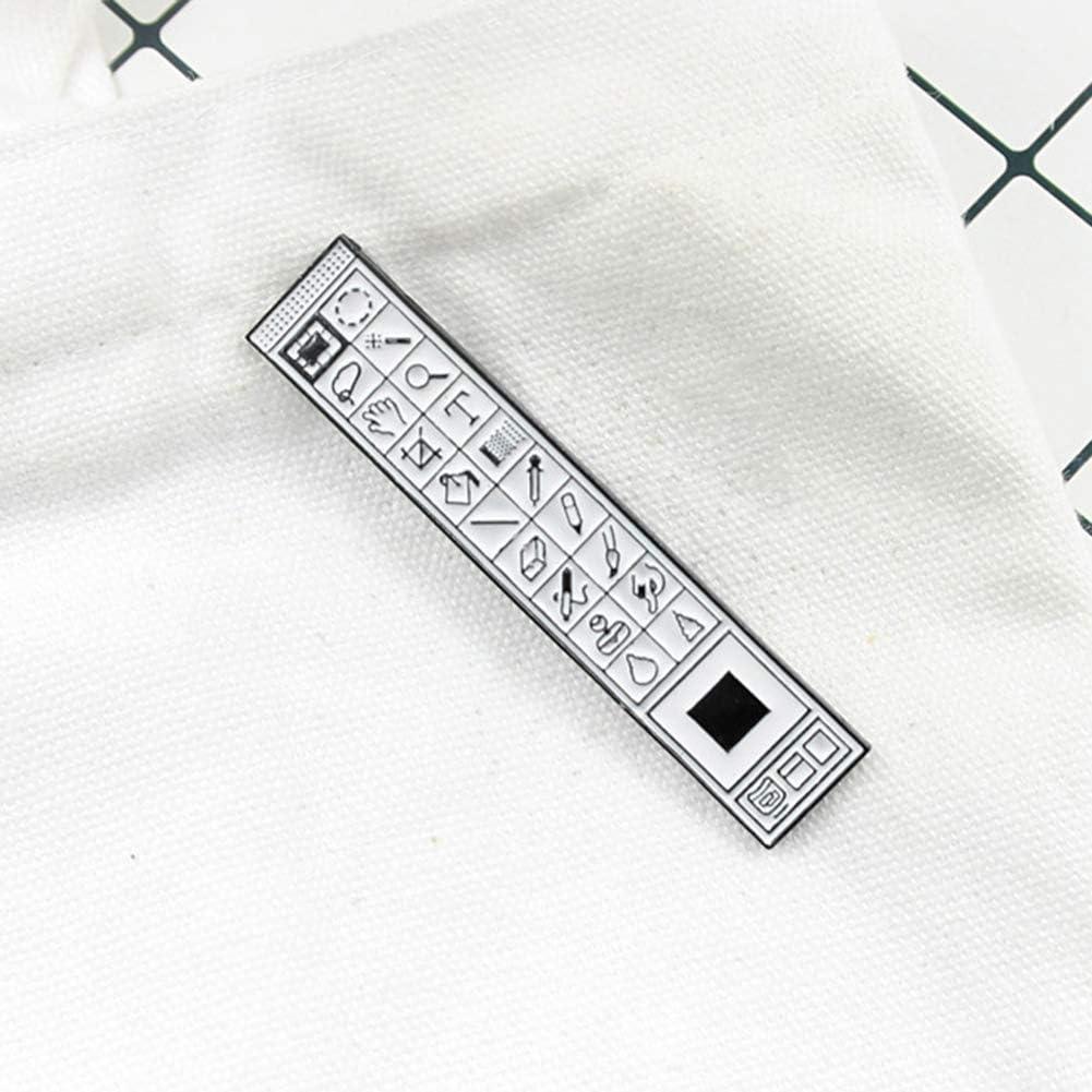 XQxiqi689sy Spille Pins Creative Photoshop PS Toolbar Spilla Pin Denim Giacca Collo Distintivo
